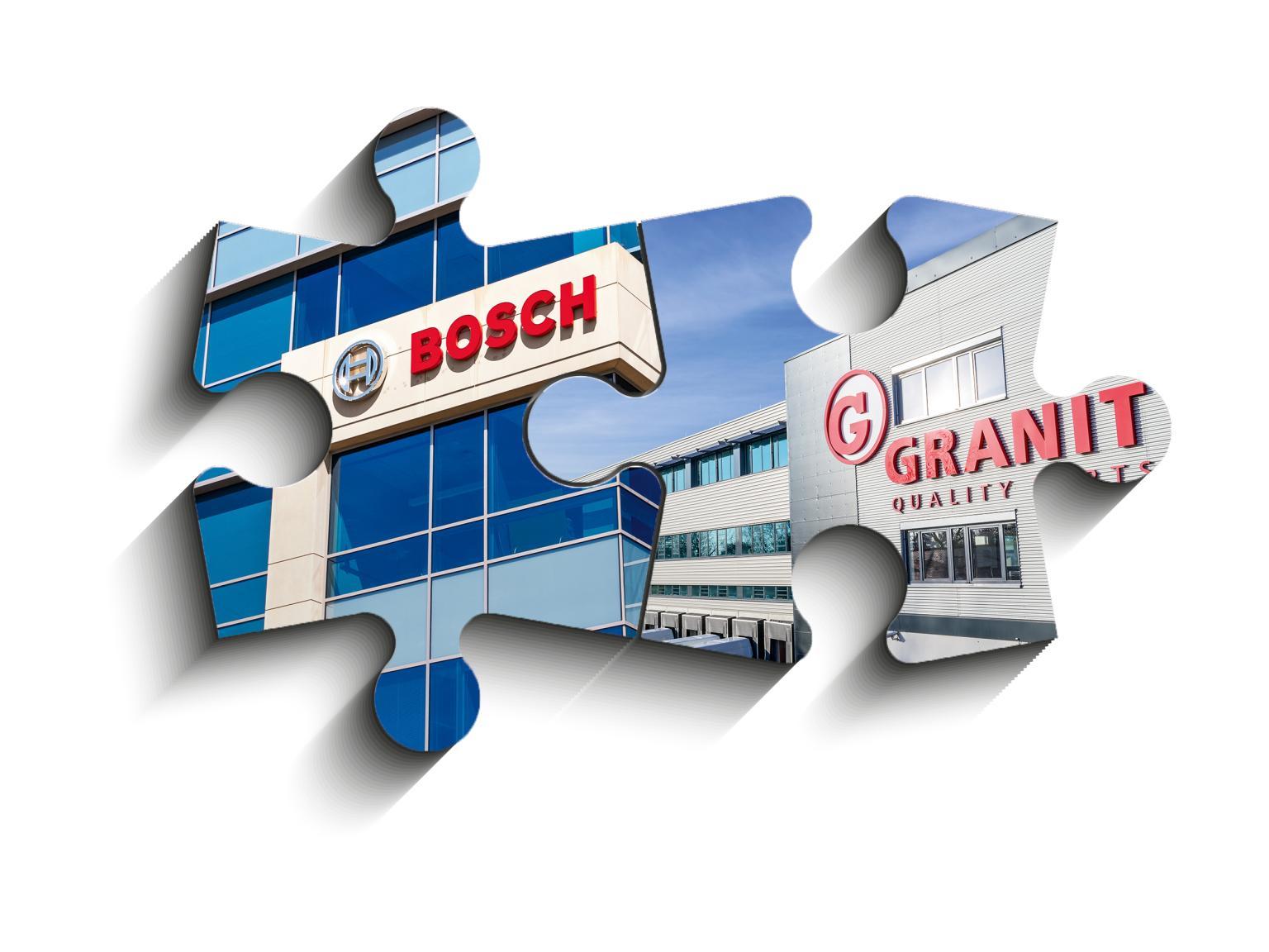 GRANIT PARTS und Bosch vereinbaren Vertriebspartnerschaft