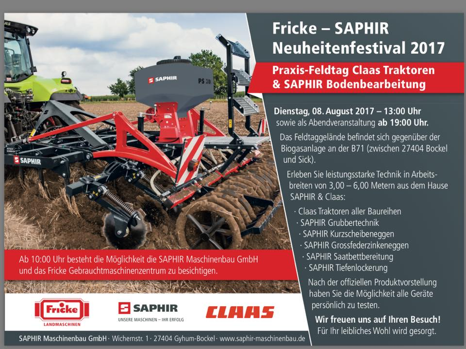 Großer Fricke Landmaschinen & SAPHIR Feldtag