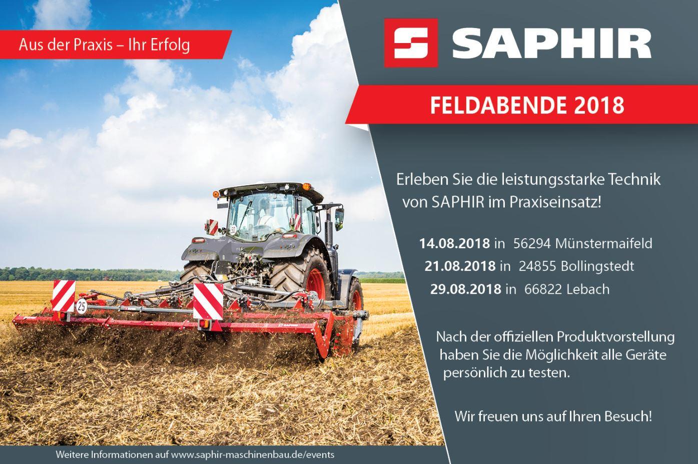 SAPHIR Feldabende 2018