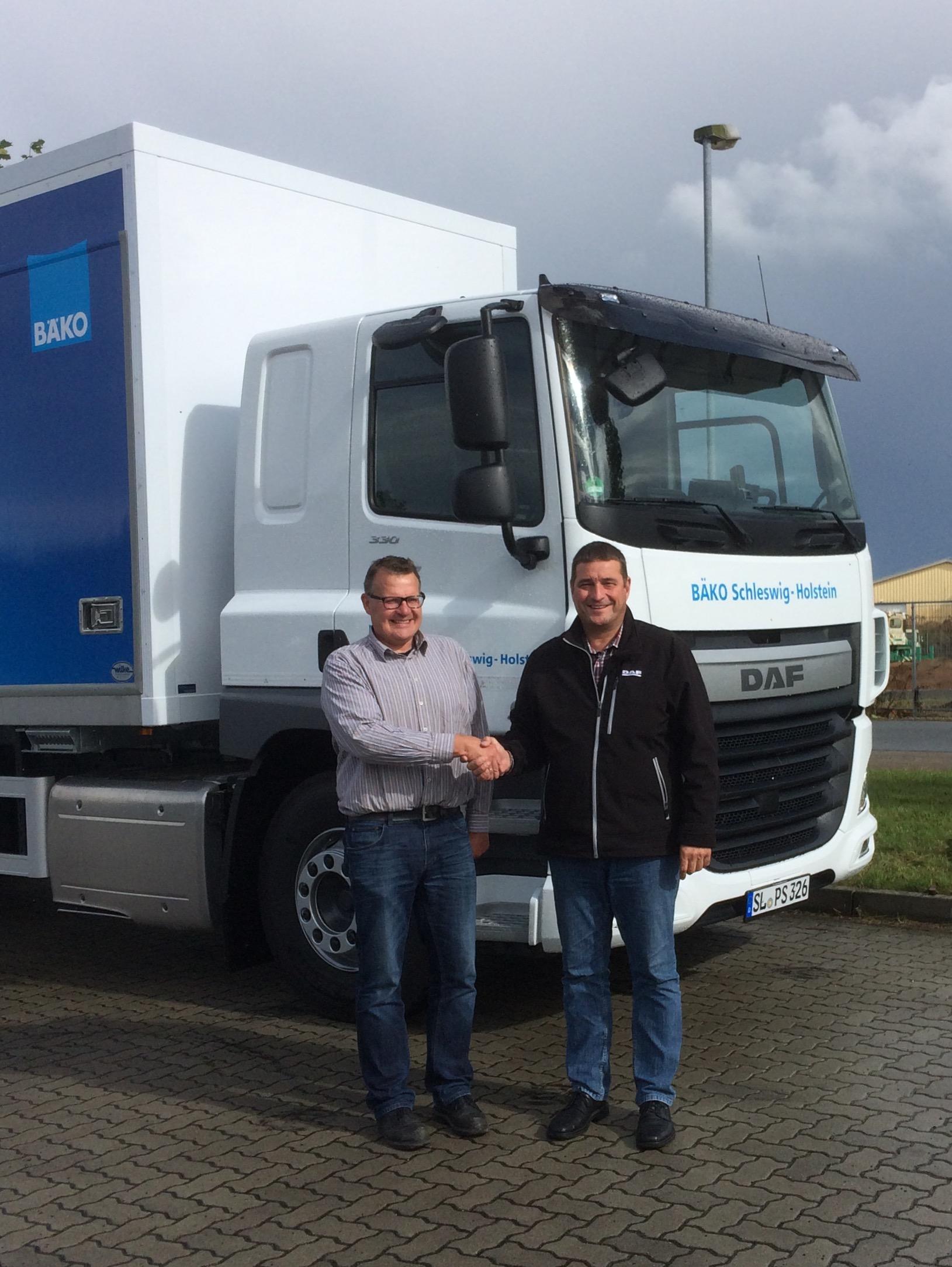 Fahrzeugübergabe an die Bäko Schleswig-Holstein eG
