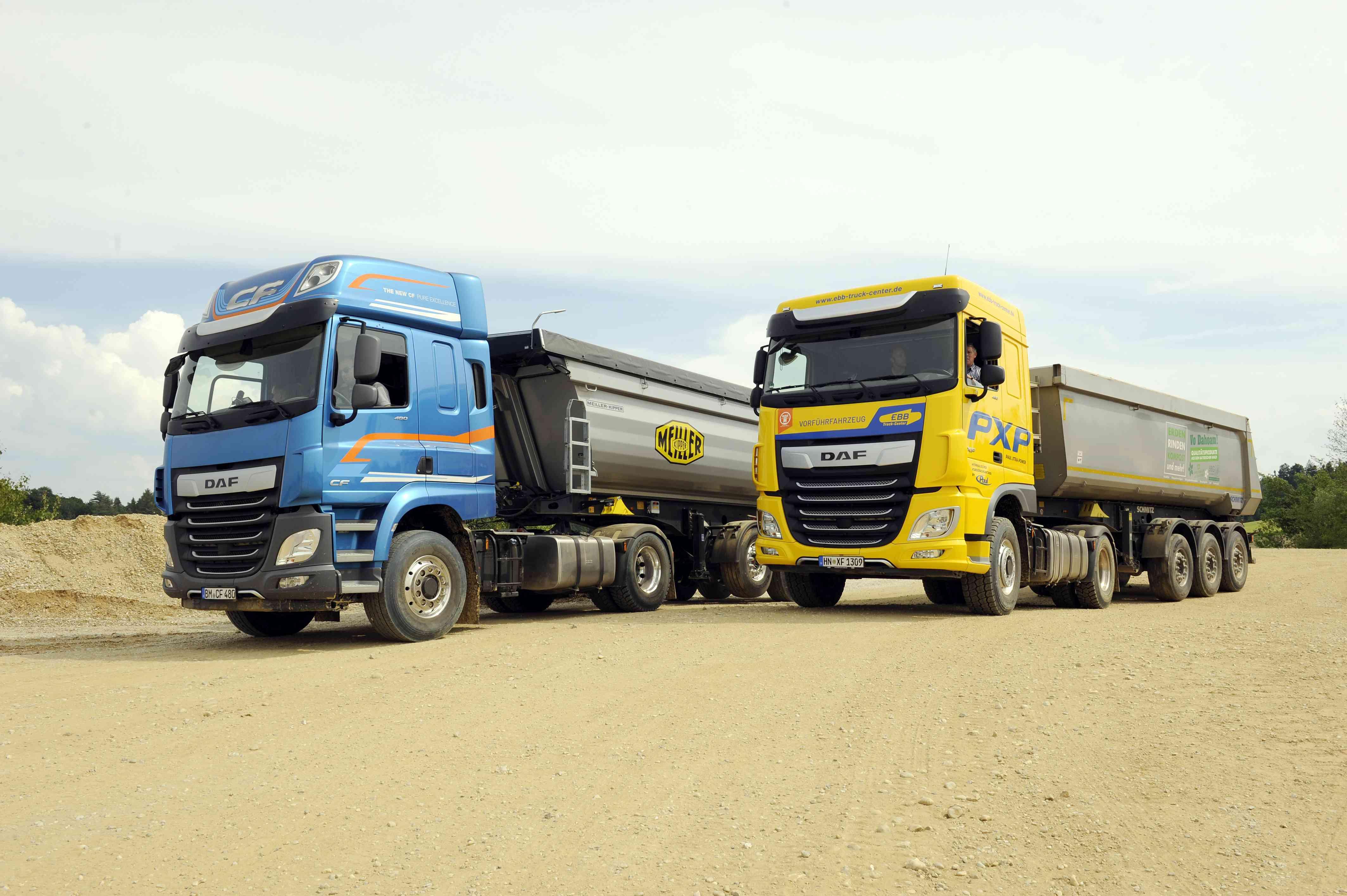 DAF stellt hydraulischen PXP Antrieb vor.