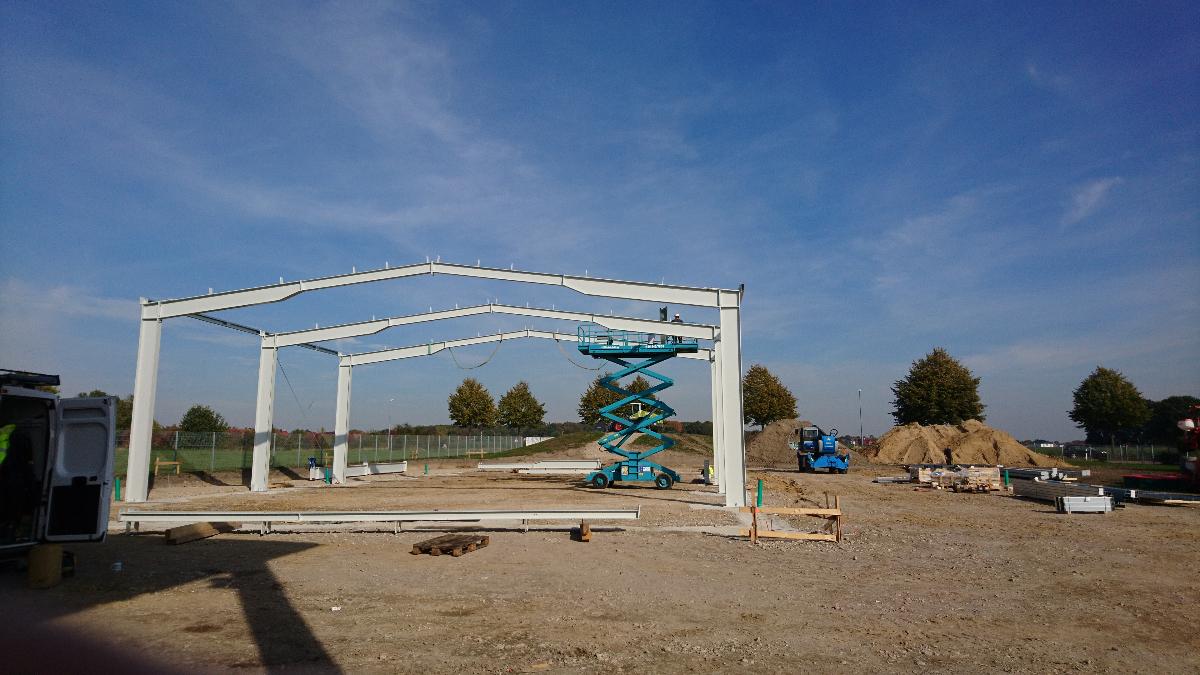 Neubau Maschinenhalle/Kalthalle